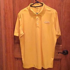 Adidas bright yellow polo shirt size XL